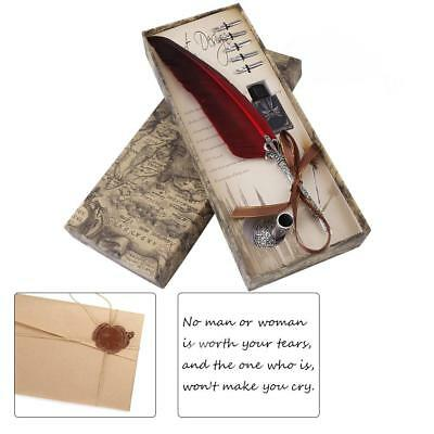 Calligraphy 0.5mm Calligraphy Feather Dip Quill Pen Writing Ink Set Gift Box