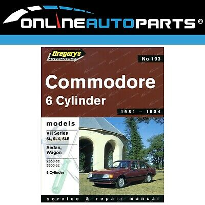 Gregory's Workshop Repair Manual Holden Commodore VH VK V8 8Cyl ...