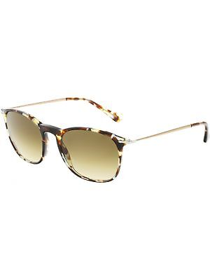 48afd6c5afc PERSOL PO3165S-105771-50 BROWN Oval Sunglasses -  139.98
