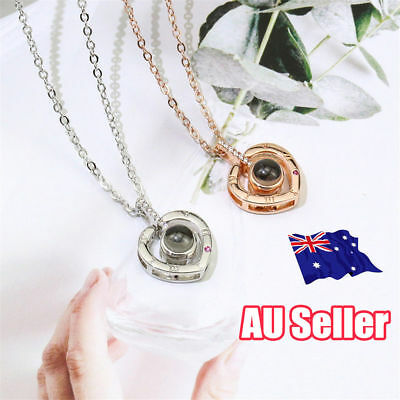 100 Languages Light Projection I Love You Pendant Necklace Lover Necklace ON