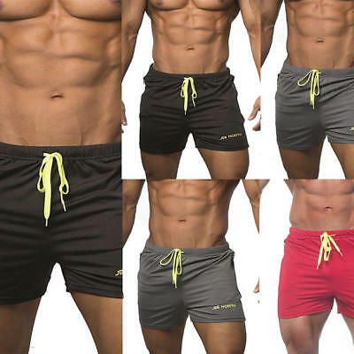 9cd2ace04 Swim Fitted Shorts Bodybuilding Workout Gym Running Tight Lifting Shorts  Mens