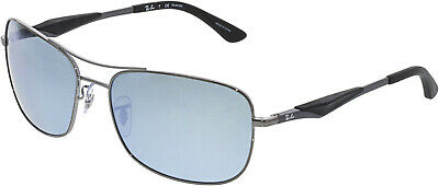Ray-Ban Women's RB3515-004/Y4-61 Silver Rectangle Sunglasses