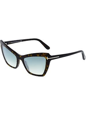 2dff2aa07940 Tom Ford Women s Mirrored Valesca FT0555-52X-55 Brown Cat Eye Sunglasses