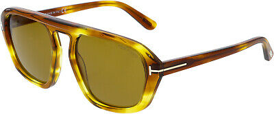 e0f5df4e7f7 TOM FORD FT0634-53E-57 Brown Square Sunglasses -  174.07