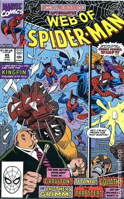 Web of Spider-Man (1st Series) #65 1990 VG Stock Image Low Grade