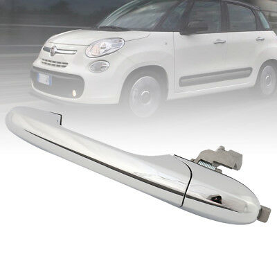 For Fiat & Abarth 500 Passenger NS Left Outer Door Handle New 735592026 Chrome