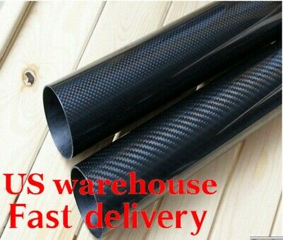 OD 50MM x 46mm 47mm 48mm 1000mm 3K Roll Wrapped 100% Carbon Fiber Tubes /pipe US