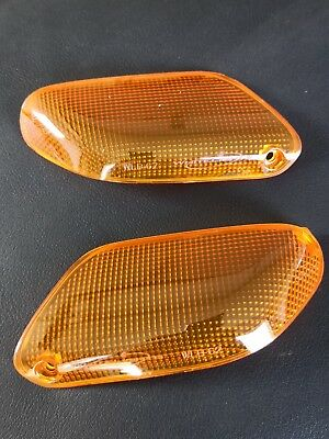 amber front signal lenses for BMW K 100 RS RT LT and K 1100 RS LT