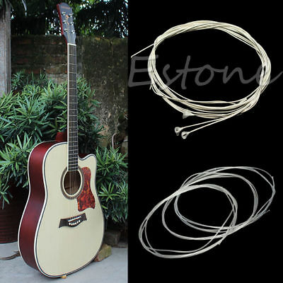 1 Set 6Pcs Durable 39'' Silver Nylon Strings For Acoustic Classical Guitar