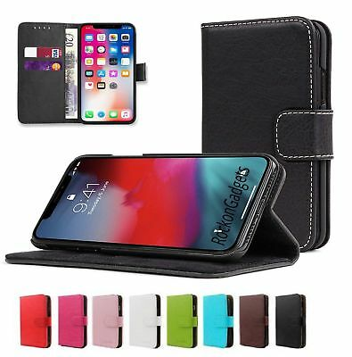 Real Genuine Leather Flip Wallet Case Cover For Apple 6 7 8 5S Plus X XS Max XR