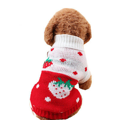 Pet Dog Puppy Warm Sweater Jumper Winter Clothes Coat Small Medium Large