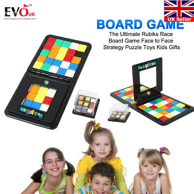 The Ultimate Rubiks Race Board Game Face to Face Strategy Puzzle Toys Kids Gifts