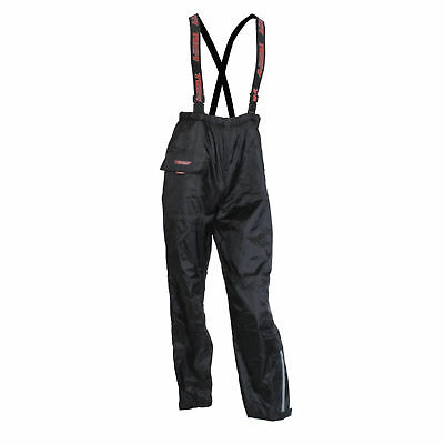 Motorcycle Textile Waterproof Rain Over Pants Trousers With Braces Black XXXXXL