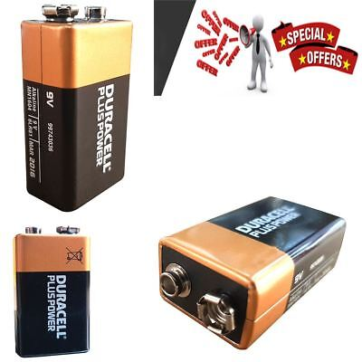 4 x Duracell 9V PP3 Plus Power Batteries, Smoke Alarms (LR22, MN1604, 6LR61)