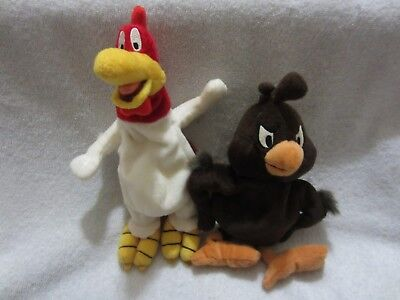 Looney Tunes Foghorn Leghorn & Chicken Hawk Stuffed 1998