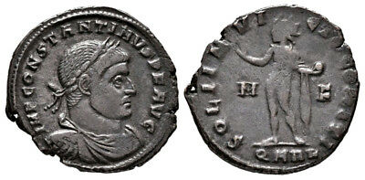 CONSTANTINE THE GREAT (316 AD) Scarce Follis, Arles #MA 793