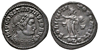 CONSTANTINE THE GREAT (314 AD) Rare Follis, Lyons #MA 795