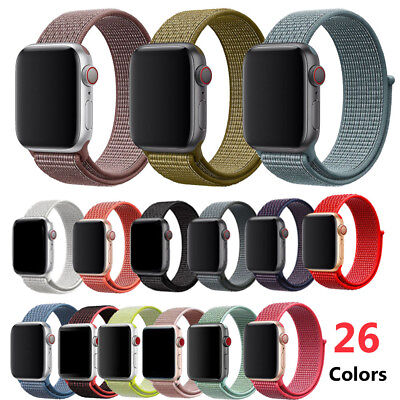 New Woven Nylon Loop Strap Watch Band For Apple Watch series 4 3 2 1 40mm 44mm