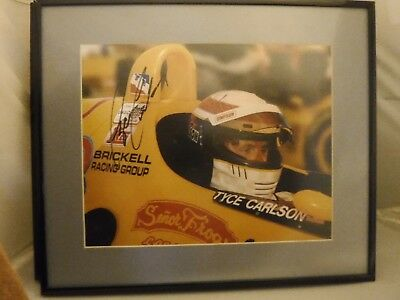 Autographed Tyce Carlson PDM Racing  IndyCar Racing Framed Print  1997
