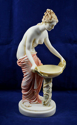 Hestia statue ancient Greek Goddess of the family and the state handpainted