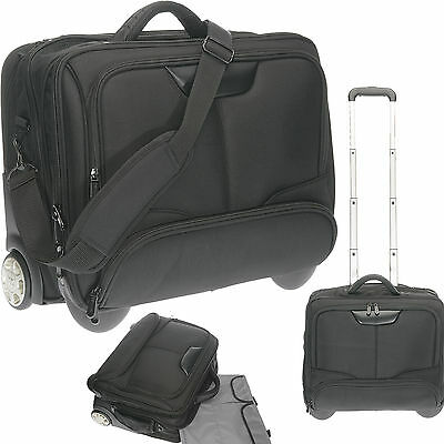 Trolley Handgepäck IATA Dermata Business XL Laptoptrolley Bag 3456 Schwarz (G)