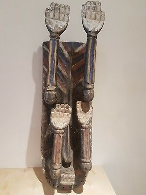 Old  wood African Grebo kru mask. 82cm high. Fine example.
