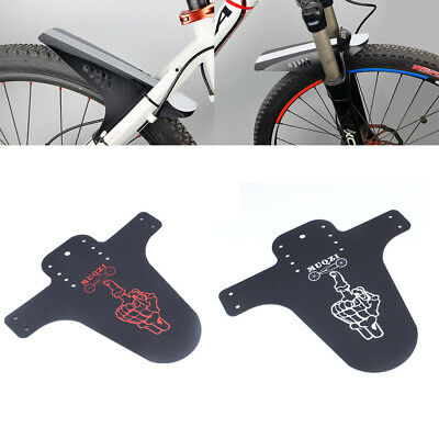 2PCS Front Back Mudguard Ride Guard Mountain Bike Fender Recycled Plastic W7C1