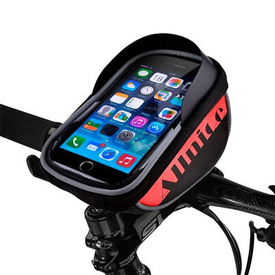 5.5Inch Bike Bag, Waterproof Touch Screen MTB Bicycle Front Phone Frame Holder