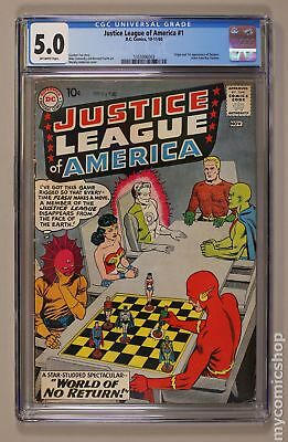 Justice League of America (1st Series) #1 1960 CGC 5.0 1355996003