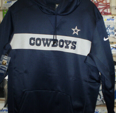 c75b912f8 NFL Dallas Cowboys Nike Sideline Therma Pull Over Hoodie Sweatshirt XL XLG  NEW