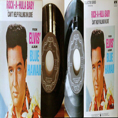 King ELVIS Presley ROCK-A-HULA BABY / CAN'T HELP FALLING IN LOVE-LIVE RARE ERROR