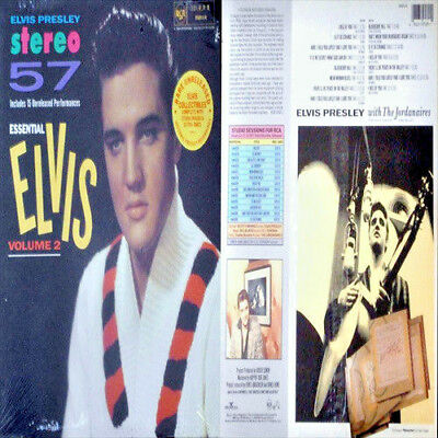 "King ELVIS Presley STEREO '57 ""ESSENTIAL ELVIS Vol 2"" SEALED VINYL STICKER PROMO"