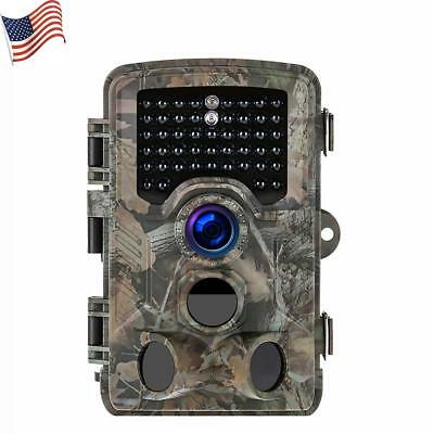Trail Camera 1080P Full HD 16MP 120° Night Vision 60ft WaterProof Stealth Cam US