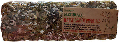 Rosewood Naturals Small Pet Snap 'n' Share Bar Christmas Treat Edible Chew Snack