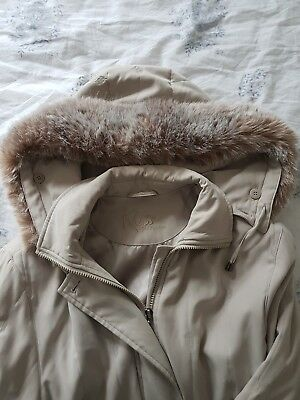 Ladies Womens Girls Jacket Hooded Faux Fur Hood Trench Lined Parka Coat