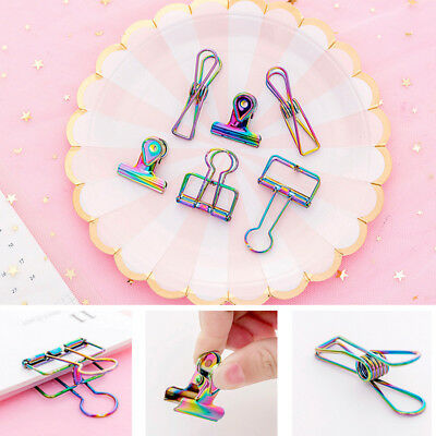 Multi Color Laser Metal Binder Clip Letter Paper File Clamp Office School Supply