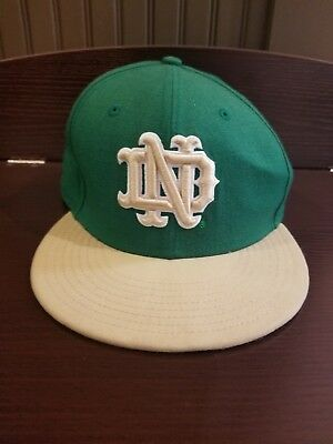 8a0001c113a NOTRE DAME FIGHTING Irish NCAA Era 59Fifty fitted cap hat Size 7 1 8 ...