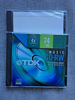 1 TDK CD-RW for Digital Audio Recorders 74 min. 1 Apogee CD 74G New Sealed