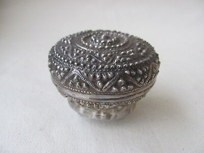 Thai / Southeast Asian Antique Repoussed Silver Box / Container