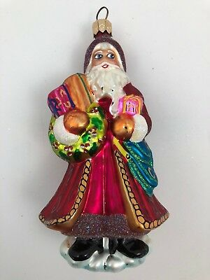 Christopher Radko DANDY SANTA Christmas Tree Holiday Ornament 994840