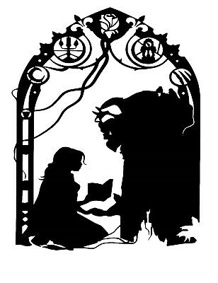 Beauty & The Beast style Wine Bottle Decal / Sticker (bottle not included)