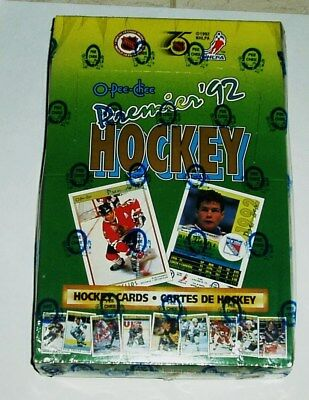 1991-92 O-Pee Chee Premier Hockey Wax Box 36 Packs New Factory Sealed