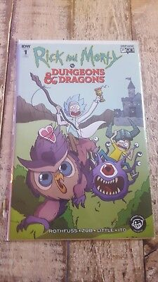 RICK AND MORTY VS DUNGEONS & DRAGONS # 1 newbury EXCLUSIVE VARIANT COVER NM