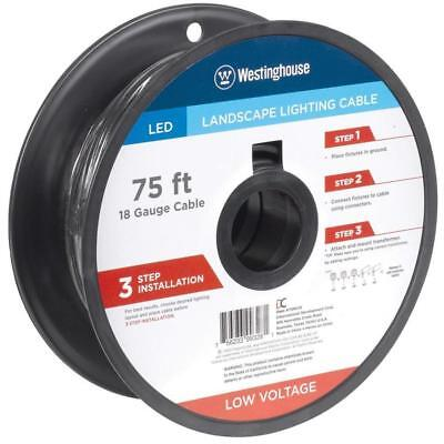 Westinghouse 18AWG Landscape Lighting Cable 75 ft.- 2 Conductor
