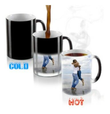 Personalised Mug Custom Magic Heat Colour Changing Tea Cup Image Photo Text Gift