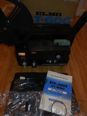 ELMO ST-600 2-Track Super 8mm Sound Projector & Extra's