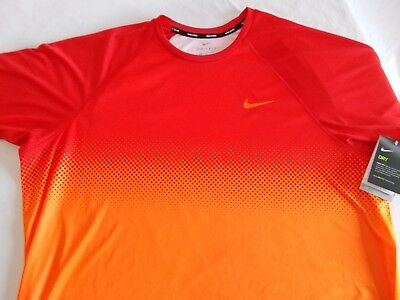 979d3449 NWT Nike Swim HYDRO GUARD SS SHIRT DriFit UPF 40+ BRIGHT CRIMSON Mens BIG &
