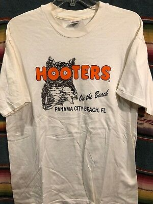 Vintage 80 S 90 Hooters Panama City Beach T Shirt Size Xl