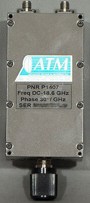 NEW ATM/Advanced Technical Materials PNR P1407 30°C/GHz Phase Shifter DC-18.6GHz
