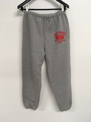 Vintage NC State Gym Cuffed Sweatpants Heather Gray, Men's Large Retro College